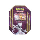 Pokebox Mewtwo - Carte Francaise A Collectionner Pokemon - Boite Metal Viollette