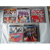 Lots De 5 Jeux Ps3 -Sing' It (Pop Hits) - Everyone Sing - Sing' It (High School Musical 3) - Dance Star Party - Yoostar 2 (Neuf Sous Blister)