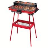 Barbecue �lectrique Sur Pieds, Rouge - Dom297r