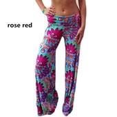 Les Pantalons Taille Haute, L'�chelle Des Femmes Pantalons Taille �ruption Classique Et Floral.