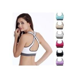 Superdeals Femmes Rembourr� Racerback Haut Athletic Veste Sport Yoga - Gym