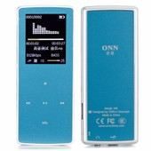 ONN W6 Mini 8 GB lecteur MP3 MP4 baladeur bluetooth sans fil FM radio musique media audio dictaphone E-book heure affichage paroles photo carte TF sports bleu clair