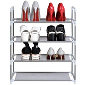 Combinaison Simple Type 4 Couches Chaussures Organisateur Rangement Chaussures Rack