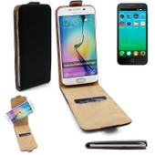 Case Smartphone Cover Flip Style Pour Alcatel One Touch Fire E 360�, Noir, Couvercle Rabattable - K-S-Trade