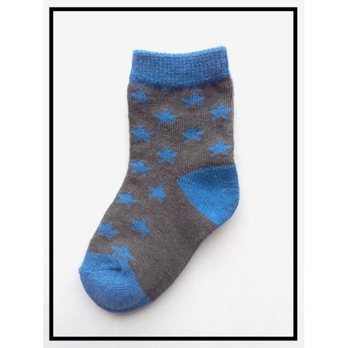 Paire de chaussettes neuves bleu roi et gris foncé anthracite mixte pour bébé  fille ou garçon 39b3a8abdb0