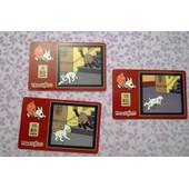 Lot De 3 Cartes De T�l�phone - Tintin Et Milou .