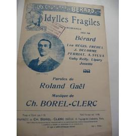 Idylles Fragiles Bérard Fréhel