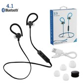 S9 Sports Stereo Wireless Bluetooth Earbuds Black TH252