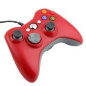 Manettes Contr�leur Filaire Pour Jeu Microsoft Xbox 360 Usb Porte Slim / Pc Avec Syst�me Win7 Rouge