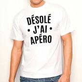 T-Shirt Blanc D�sol� J'ai Ap�ro