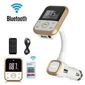 Lcd Voiture Kit Bluetooth Lecteur Mp3 Sd Usb A Distance Transmetteur Fm