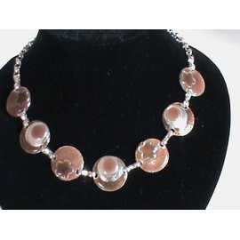 Collier M�tal �maill� Marron Moderne