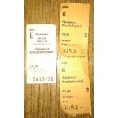 3 Tickets Halsskov Knudshoved 1976