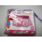 Kit De Tricot Couleur Rose Craftoy