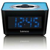 Lenco Cr-16 Radio Portable Noir Et Bleu