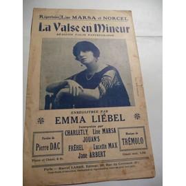 La valse en Mineur Fréhel Emma Liébel