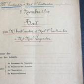 Acte Notarial De 1910 (Bail-12 Pages)