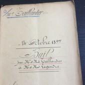 Acte Notarial De 1897 (Bail-16 Pages)
