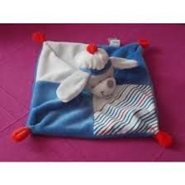 Doudou Plat Tex Baby Chien Marin Ancre