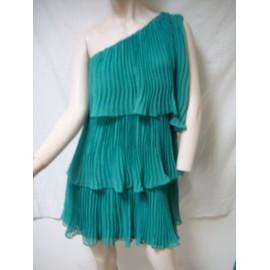 Robe Zara Polyester 38 Vert