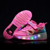 Heelys Mode Enfants Heelys Chaussures Led Batterie Led Lumineux Chaussures De Sports Baskets Fille Chaussures