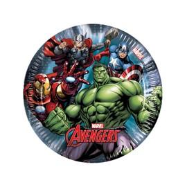 8 Petites Assiettes Avengers Power 19.5 Cm