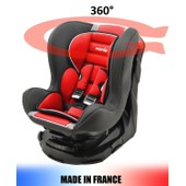 Si�ge Auto Pivotant 360� Et Inclinable 4 Positions Made In France Groupe 0+ / 1 (0-18kg) - 4 Couleurs - Mycarsit - Carmin