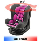Si�ge Auto Pivotant 360� Et Inclinable 4 Positions Made In France Groupe 0+ / 1 (0-18kg) - 4 Couleurs - Mycarsit - Framboise