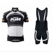 Haute Qualit� Ktm Abbigliamento Ciclismo 2015 Vtt V�lo Maillot Bicicletas Manches Courtes Maillot Ciclismo Noir Blanc