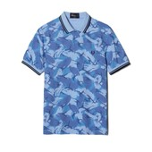Polo Fred Perry Camouflage Bleu