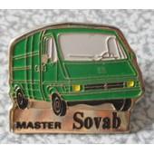 Pin's M�tallique De L�Usine Renault De Batilly : Master Sovab Vert