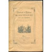 Portraits Et Galons Romantiques : Madame Recamier, Balzac, Madame De Girardin, Alfred De Musset - Introduction De Louis Barthou. de a de lamartine