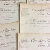 8 M�moires Des Travaux : Maison Portheault, Portheault & Couperot Entrepreneurs. Couverture-Plomberie-Eau-Gaz. 1935/43