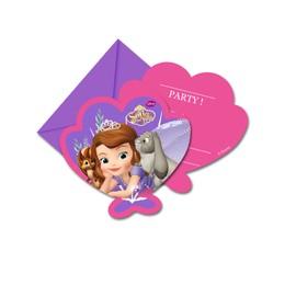 6 Cartes D'invitation Avec Enveloppes Princesse Sofia