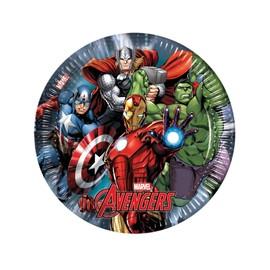 8 Assiettes En Carton Avengers Power 23 Cm