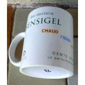Tasse Mug Publicitaire Sensigel,Elgydium, Laboratoire Pierre Fabre ,Dentiste - 10x08cm Environ
