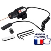 Vis�e Laser Point Rouge Avec T�l�commande Pointeur Red Sight Pour Rail 21 � 26 Mm Delta Tactics Airsoft Paintball Chasse Pistolet � Billes Fusil