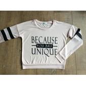 T-Shirt Manche Longue Ou Sweat L�ger Jennyfer S Ou 34 / 36 Rose P�le