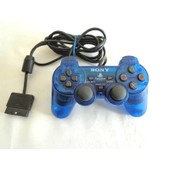 Manette Sony Playstation Dual Shock 2 Bleue Transparente