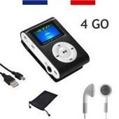 MINI LECTEUR MP3 CLIP ECRAN LCD 2 GO avec Radio FM + �COUTEURS + C�BLE USB CW-P3-003