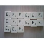 Lettres E Du Scrabble Classique 2cm De C�t� Du Jeu Classique Vendues � L'unit�
