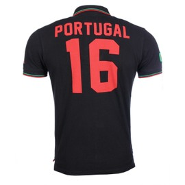 Kaporal Soccer - Homme - Polo Portugal Noir Euro Cup 2016