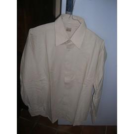 Chemise Tex Manches Longues Coton 37/38 Beige