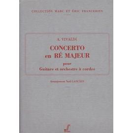 Concerto en ré M pour guitare et cordes - collection marc et eric franceries