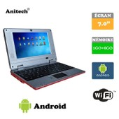 Tablette ordinateur portable Netbook Rouge Android 4 HDMI �cr.7.0 (Wifi-SD-MMC) PC portable
