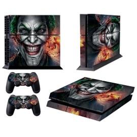 Vinyle Autocollant Skin Sticker Pour Ps4 Console Et 2 Contr�leur - Le Joker Sourire Clown Prince Of Crime