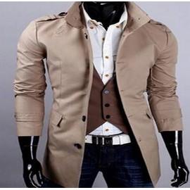 Manteaux Hommes Longues Sections Casual Veste Coupe-Vent De -Jinding Slim Hommes