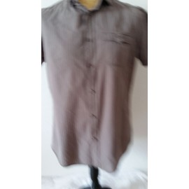 Chemise Manches Courtes Jules Taille L Taupe � Rayures Rose