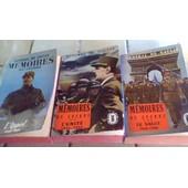 G�n�ral De Gaulle - M�moires De Guerre En 3 Tomes - Le Livre De Poche Historique,Broch�s,Imprim�s En France Par Brodard Et Taupin En 1966- L'appel,L'unit�,Le Salut - 431;503;502pp