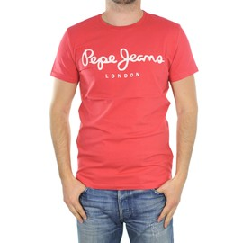 Tee-Shirt Homme Pepe Jeans Mc Original Stretch Rouge